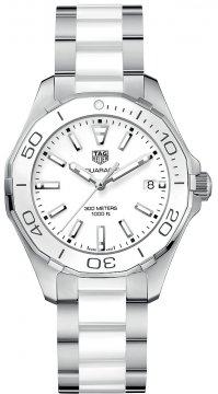 Buy this new Tag Heuer Aquaracer Quartz Ladies 35mm way131b.ba0914 ladies watch for the discount price of £1,147.00. UK Retailer.