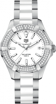Buy this new Tag Heuer Aquaracer Quartz Ladies 35mm way131f.ba0914 ladies watch for the discount price of £2,167.00. UK Retailer.