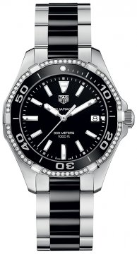 Buy this new Tag Heuer Aquaracer Quartz Ladies 35mm way131g.ba0913 ladies watch for the discount price of £1,615.00. UK Retailer.