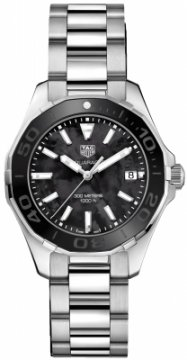 Buy this new Tag Heuer Aquaracer Quartz Ladies 35mm way131k.ba0748 ladies watch for the discount price of £1,100.00. UK Retailer.