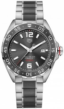 Buy this new Tag Heuer Formula 1 Automatic 43mm waz2011.ba0843 mens watch for the discount price of £1,402.00. UK Retailer.