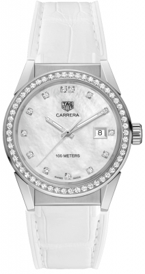Buy this new Tag Heuer Carrera Quartz wbg1315.fc6412 ladies watch for the discount price of £2,890.00. UK Retailer.