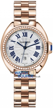 Buy this new Cartier Cle De Cartier Automatic 31mm wjcl0003 ladies watch for the discount price of £25,560.00. UK Retailer.