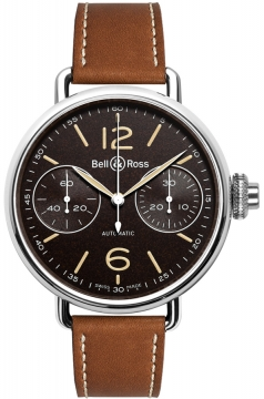 Bell & Ross Vintage WW1 Mens watch, model number - WW1 Chronograph Monopoussoir Heritage, discount price of £4,383.00 from The Watch Source