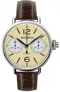 Bell & Ross Vintage WW1 Mens watch, model number - WW1 Chronograph Monopoussoir, discount price of £4,612.00 from The Watch Source