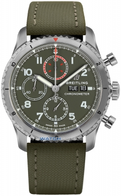 Breitling Aviator 8 Chronograph 43 Curtiss Warhawk a133161a1L1x2 watch