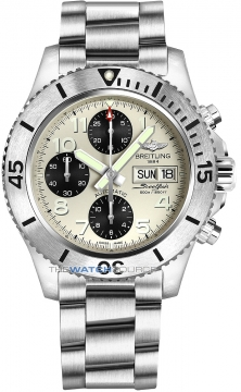 Breitling Superocean Chronograph Steelfish 44 Mens watch, model number - a13341c3/g782-ss, discount price of £4,170.00 from The Watch Source