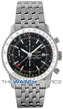 Breitling Navitimer World Mens watch, model number - a2432212/b726-ss, discount price of £5,090.00 from The Watch Source