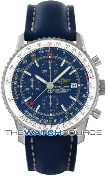 Breitling Navitimer World Mens watch, model number - a2432212/c561-3LT, discount price of £4,496.00 from The Watch Source