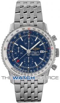 Breitling Navitimer World Mens watch, model number - a2432212/c561-ss, discount price of £5,090.00 from The Watch Source