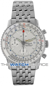 Breitling Navitimer World Mens watch, model number - a2432212/g571-ss, discount price of £5,090.00 from The Watch Source