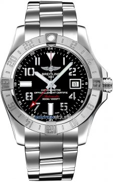 Breitling Avenger II GMT Mens watch, model number - a3239011/bc34-ss3, discount price of £3,120.00 from The Watch Source