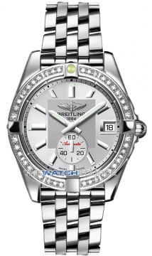 Breitling Galactic 36 Automatic Midsize watch, model number - a3733053/g706-ss, discount price of £6,200.00 from The Watch Source