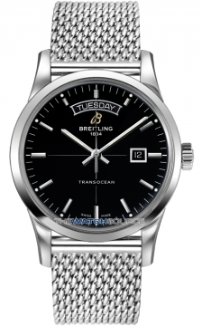 Breitling Transocean Day Date Mens watch, model number - a4531012/bb69-ss, discount price of £3,720.00 from The Watch Source
