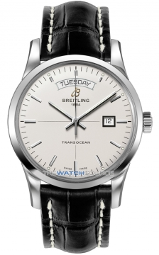 Breitling Transocean Day Date Mens watch, model number - a4531012/g751-1cd, discount price of £3,790.00 from The Watch Source