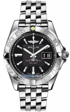 Breitling Galactic 41 Mens watch, model number - a49350L2/ba07-ss, discount price of £3,800.00 from The Watch Source