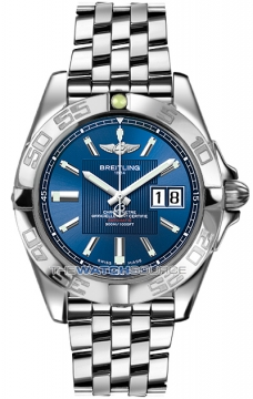 Breitling Galactic 41 Mens watch, model number - a49350L2/c806-ss, discount price of £3,800.00 from The Watch Source