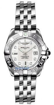 Breitling Galactic 32 Ladies watch, model number - a71356L2/a708-ss, discount price of £3,440.00 from The Watch Source