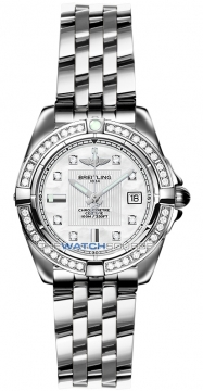 Breitling Galactic 32 Ladies watch, model number - a71356LA/a708-ss, discount price of £5,390.00 from The Watch Source