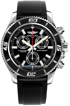 Breitling Superocean Chronograph M2000 Mens watch, model number - a73310a8/bb73-1pro2d, discount price of £3,480.00 from The Watch Source