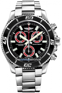 Breitling Superocean Chronograph M2000 Mens watch, model number - a73310a8/bb72-ss, discount price of £3,540.00 from The Watch Source