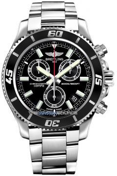 Breitling Superocean Chronograph M2000 Mens watch, model number - a73310a8/bb73-ss, discount price of £3,540.00 from The Watch Source