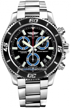 Breitling Superocean Chronograph M2000 Mens watch, model number - a73310a8/bb74-ss, discount price of £3,540.00 from The Watch Source