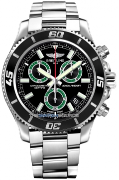 Breitling Superocean Chronograph M2000 Mens watch, model number - a73310a8/bb75-ss, discount price of £3,540.00 from The Watch Source