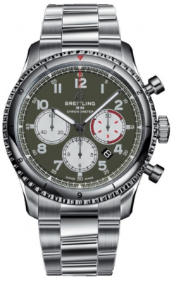 Breitling Aviator 8 B01 Chronograph 43 Curtiss Warhawk ab01192a1L1a1 watch