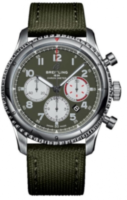 Breitling Aviator 8 B01 Chronograph 43 Curtiss Warhawk ab01192a1L1x1 watch