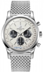 Breitling Transocean Chronograph 43mm ab015212/g724-ss watch
