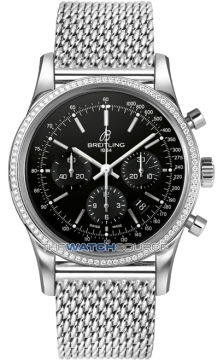 Breitling Transocean Chronograph 43mm Mens watch, model number - ab015253/ba99-ss, discount price of £8,540.00 from The Watch Source