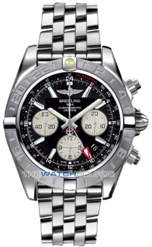 Breitling Chronomat 44 GMT Mens watch, model number - ab042011/bb56-ss, discount price of £6,520.00 from The Watch Source