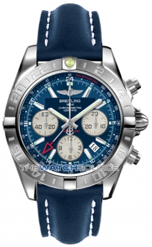 Breitling Chronomat 44 GMT Mens watch, model number - ab042011/c851-3ld, discount price of £5,900.00 from The Watch Source