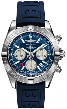 Breitling Chronomat 44 GMT Mens watch, model number - ab042011/c851-3pro3d, discount price of £5,900.00 from The Watch Source