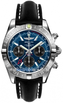 Breitling Chronomat 44 GMT Mens watch, model number - ab042011/c852-1ld, discount price of £5,900.00 from The Watch Source