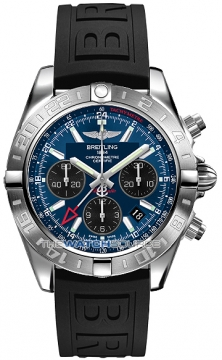 Breitling Chronomat 44 GMT Mens watch, model number - ab042011/c852-1pro3d, discount price of £5,818.00 from The Watch Source
