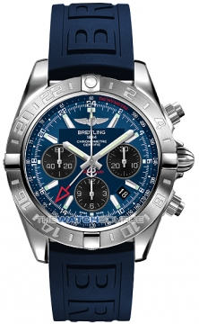 Breitling Chronomat 44 GMT Mens watch, model number - ab042011/c852-3pro3t, discount price of £5,710.00 from The Watch Source