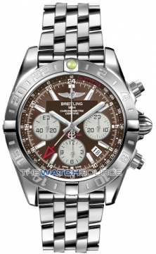 Breitling Chronomat 44 GMT Mens watch, model number - ab042011/q589-ss, discount price of £6,540.00 from The Watch Source