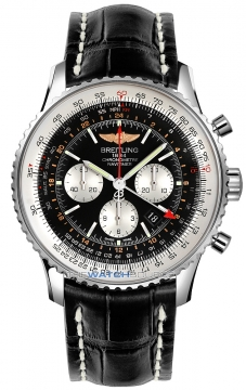 Breitling Navitimer GMT Mens watch, model number - ab044121/bd24-1cd, discount price of £6,893.00 from The Watch Source