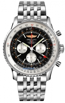 Breitling Navitimer GMT Mens watch, model number - ab044121/bd24-ss, discount price of £6,960.00 from The Watch Source