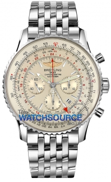 Breitling Navitimer GMT Mens watch, model number - ab044121/g783-ss, discount price of £6,950.00 from The Watch Source