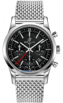 Breitling Transocean Chronograph GMT Mens watch, model number - ab045112/bc67-ss, discount price of £5,950.00 from The Watch Source