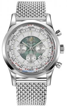Breitling Transocean Chronograph Unitime Mens watch, model number - ab0510u0/a732-ss, discount price of £7,490.00 from The Watch Source