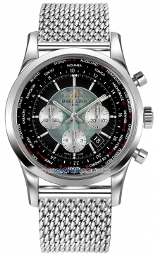 Breitling Transocean Chronograph Unitime Mens watch, model number - ab0510u4/bb62-ss, discount price of £7,490.00 from The Watch Source