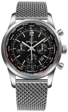 Breitling Transocean Chronograph Unitime Pilot Mens watch, model number - ab0510u6/bc26-ss, discount price of £7,450.00 from The Watch Source