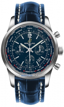 Breitling Transocean Chronograph Unitime Pilot Mens watch, model number - ab0510u9/c879-3cd, discount price of £7,750.00 from The Watch Source