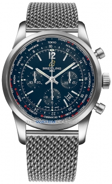 Breitling Transocean Chronograph Unitime Pilot Mens watch, model number - ab0510u9/c879-ss, discount price of £7,710.00 from The Watch Source