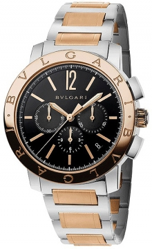 Bulgari BVLGARI BVLGARI Chronograph 41mm Mens watch, model number - bb41bspgdch, discount price of £9,018.00 from The Watch Source