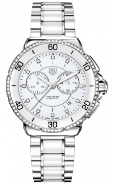 Tag Heuer Formula 1 Ladies Chronograph Ladies watch, model number - cah1213.ba0863, discount price of £1,800.00 from The Watch Source